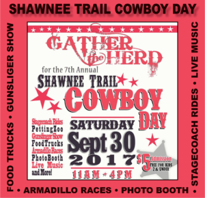 Shawnee Trail Cowboy Day Home Page Poster 2017