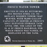 Frisco water tower, 7th St.