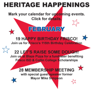 Heritage Happenings February 2017