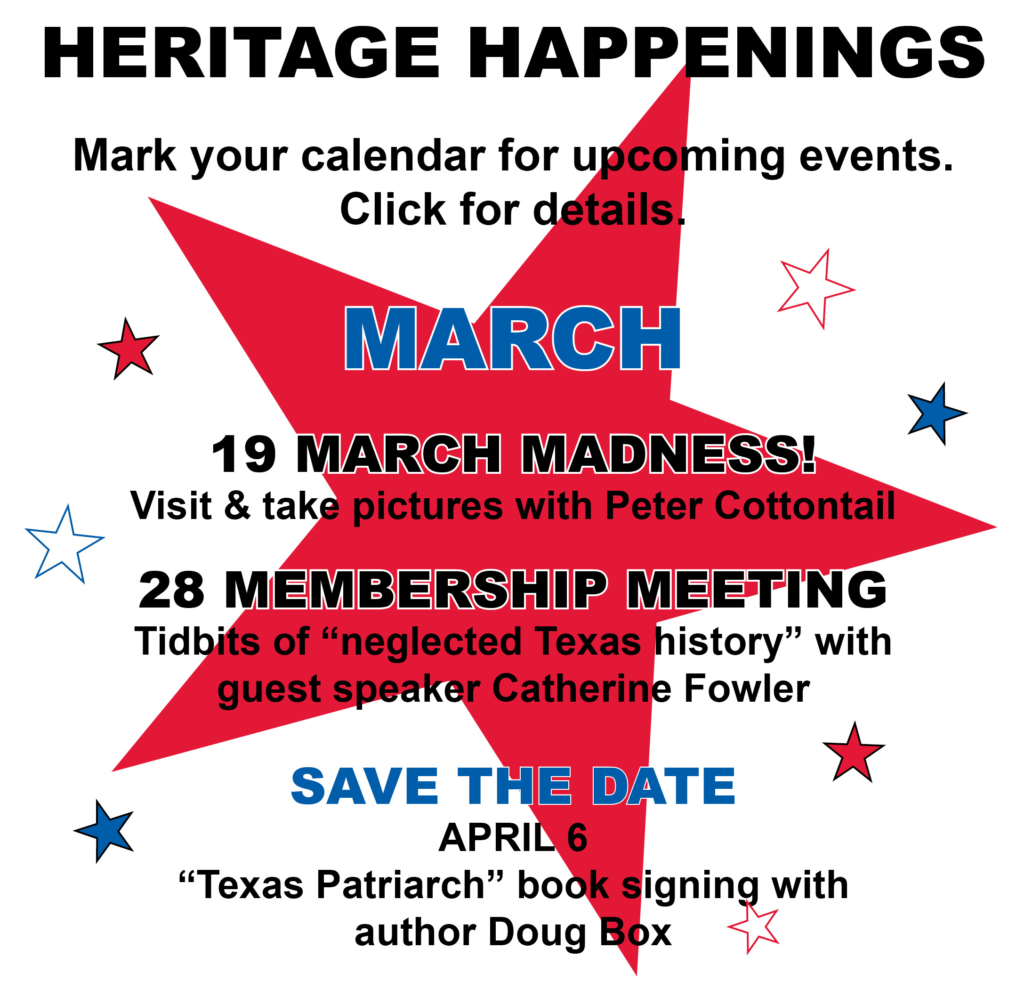 Heritage Happenings March 2017
