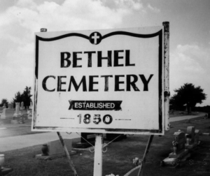 Bethel Cemetery Sign