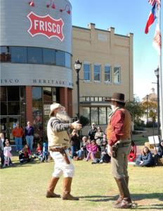 Old Timer and Cowboy at Shawnee Trail Cowboy Days