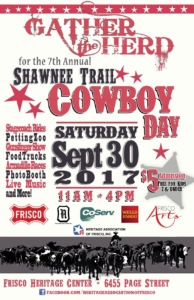Shawnee Trail Cowboy Day Poster 2017