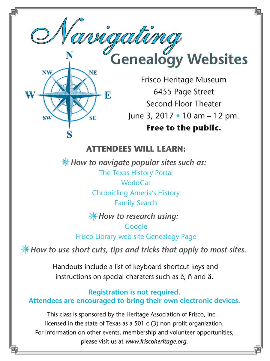Navigating Genealogy Websites