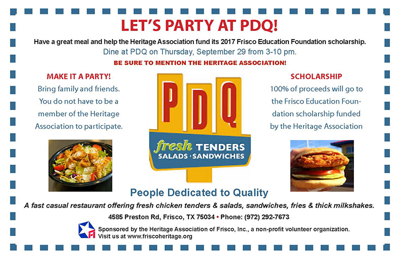 Party at PDQ Fundraiser