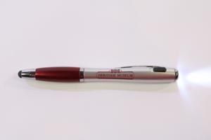 Three Way Ballpoint Pen, Light and Stylus
