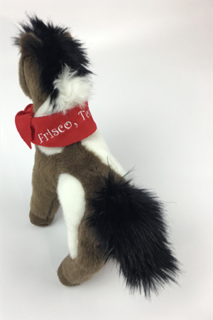 Aztec, a Brown Pony with Frisco Scarf