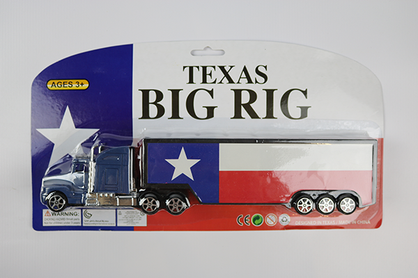 Big Rig Truck with Texas Flag