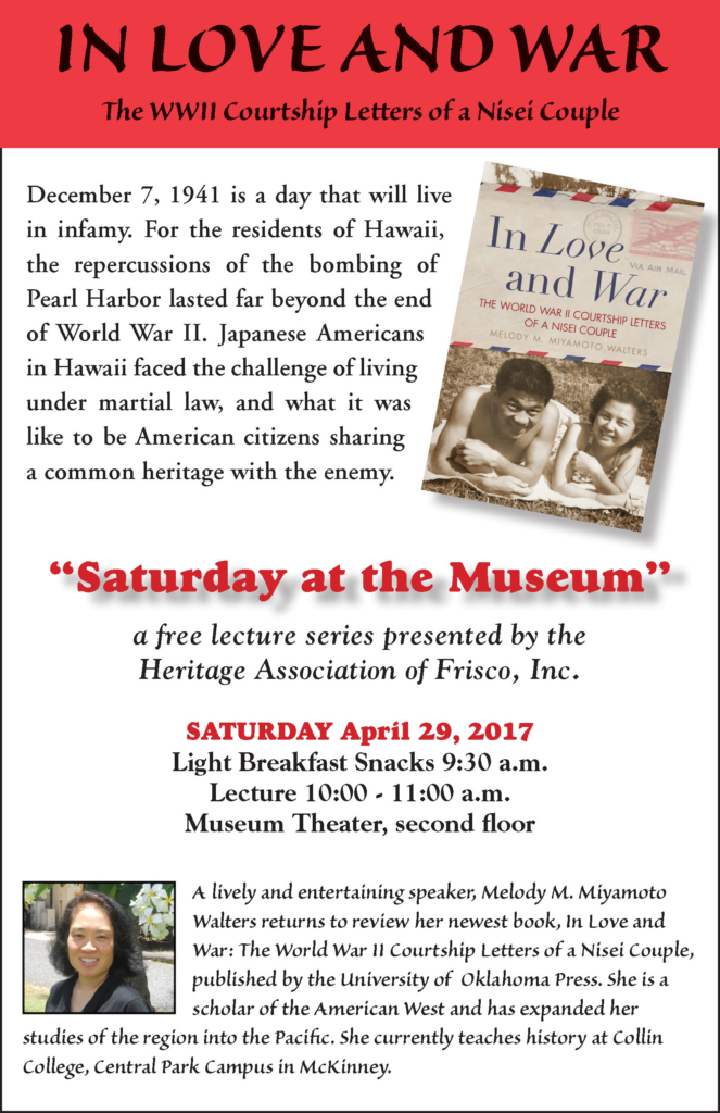 Saturday at the Museum, April 29, 2017 In Love and War