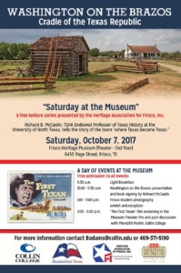Saturday at the Museum October, 2017 Flyer