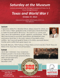 Texas & WWI Flyer